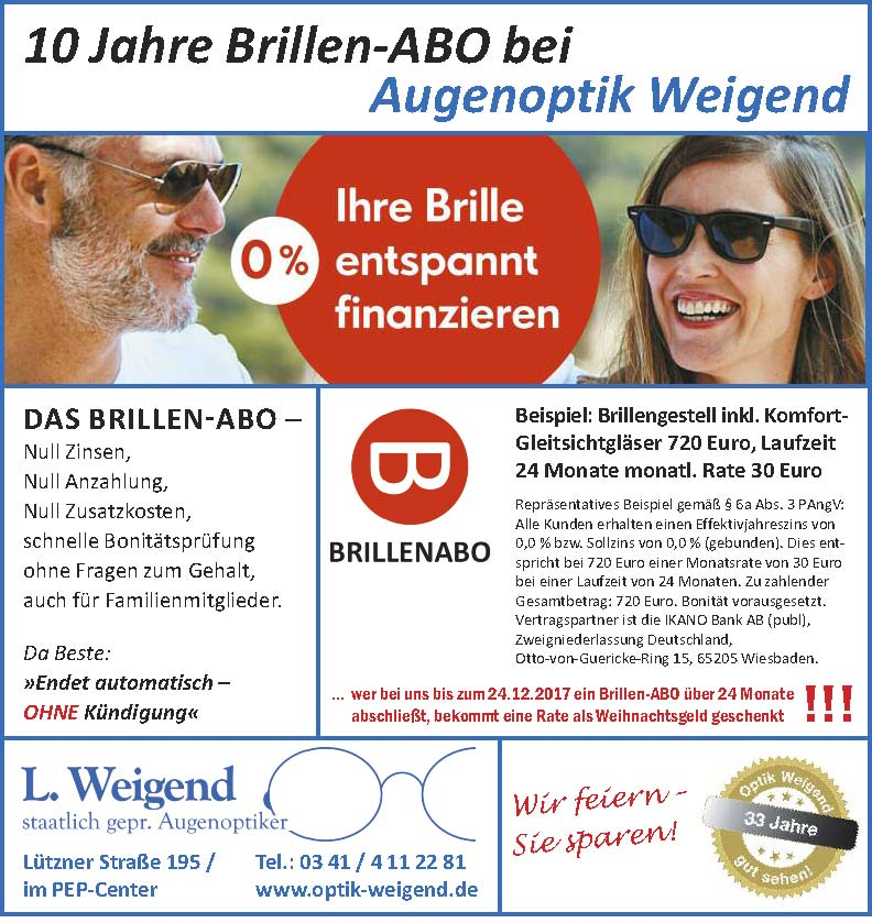 Brillen-ABO, Optik Weigend, Leipzig-Grünau